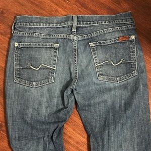 Extra Short Low Rise Jeans by 7 For All Mankind